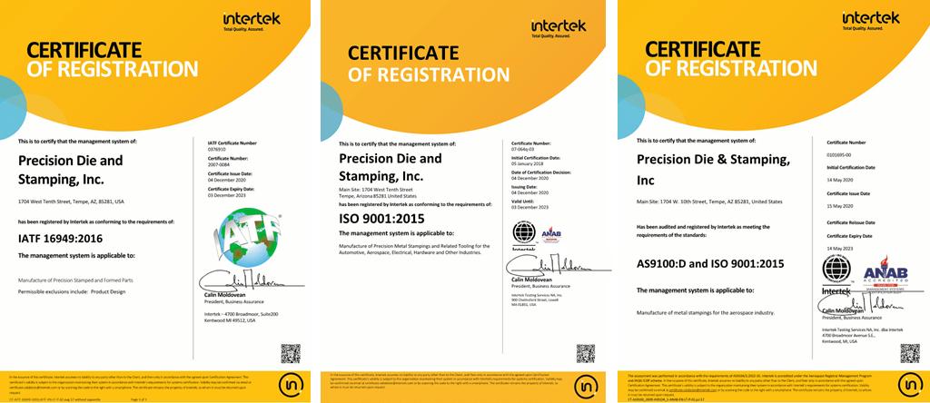 3 Certificates